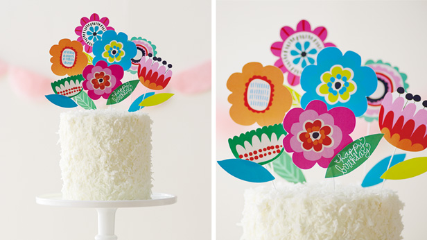 DIY Birthday Cake Toppers: Birthday Blooms