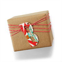 Recycled Christmas Card Crafts: Initial Gift Tags #Hallmark #HallmarkIdeas