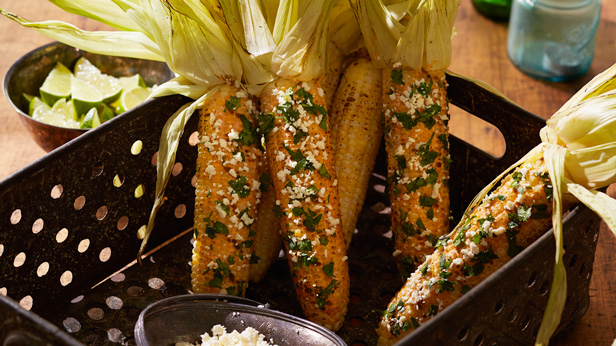 Fresh-from-the-Garden Fall Harvest Recipes: Grilled Mexican Street Corn #Hallmark #HallmarkIdeas