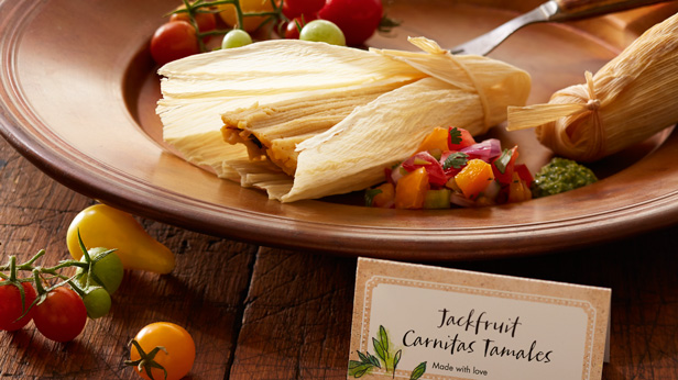 Fresh-from-the-Garden Fall Harvest Recipes: Jackfruit Carnitas Tamales with Cilantro Pesto and Pico de Gallo #Hallmark #HallmarkIdeas