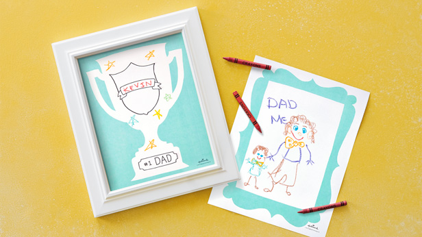 Father's Day Coloring Pages #Hallmark #HallmarkIdeas