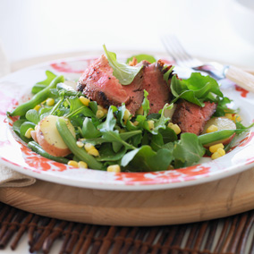 ... flank steak marinated flank steak flank steak and arugula salad recipe