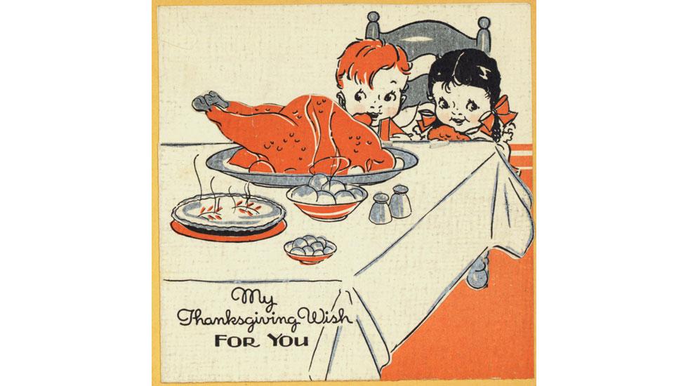 Hallmark Thanksgiving cards through the years: 1930s #Hallmark #HallmarkIdeas
