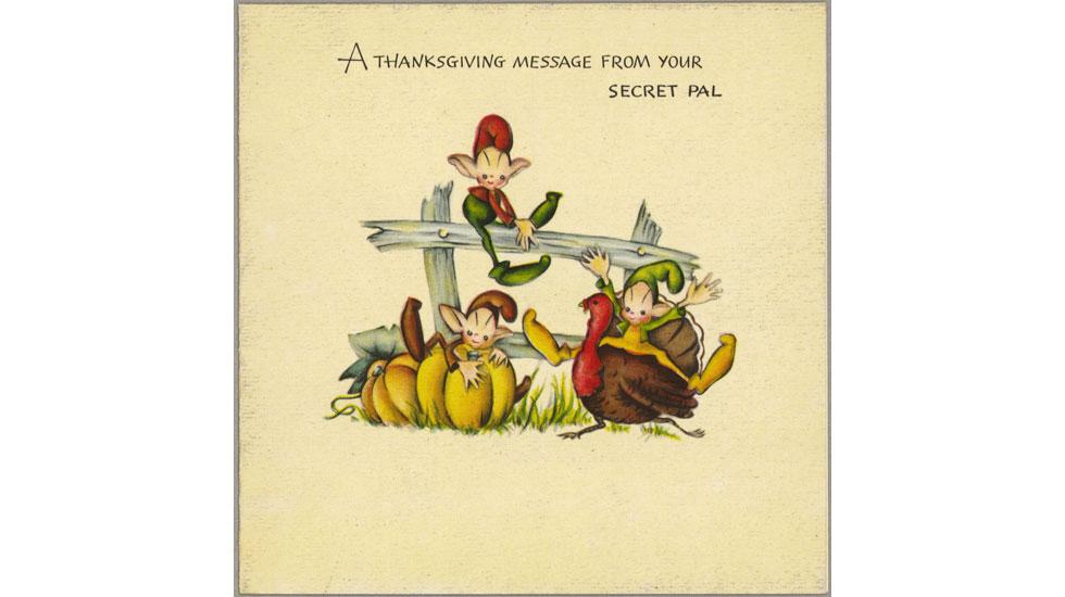Hallmark Thanksgiving cards through the years: 1940s #Hallmark #HallmarkIdeas