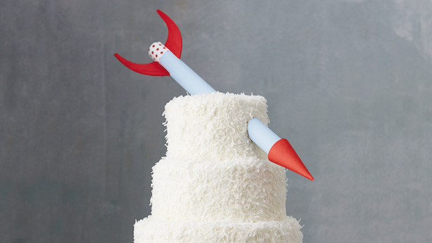 DIY Birthday Cake Toppers: Missile