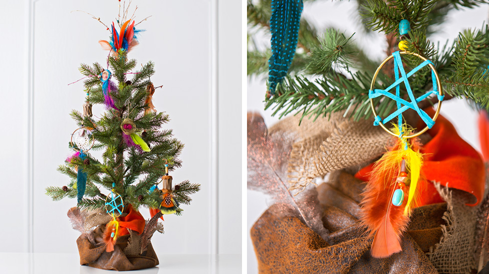12 creative christmas tree decorating ideas hallmark for American indian decoration