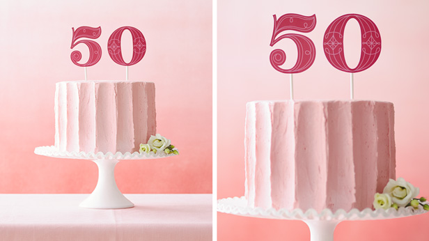 DIY Birthday Cake Toppers: Numero Uno