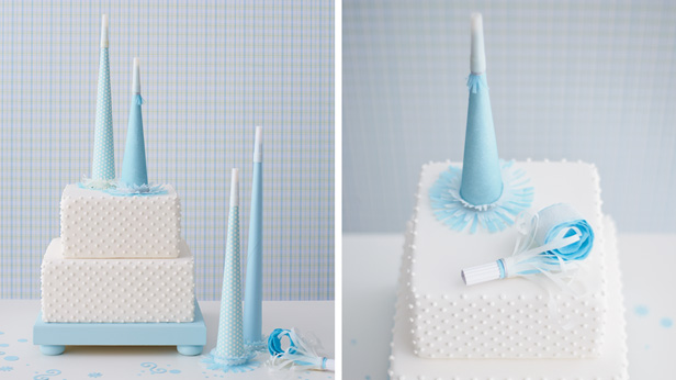 DIY Birthday Cake Toppers: Party Horn