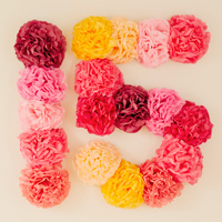 Quinceanera decorations: flower-power backdrop #Hallmark #HallmarkIdeas