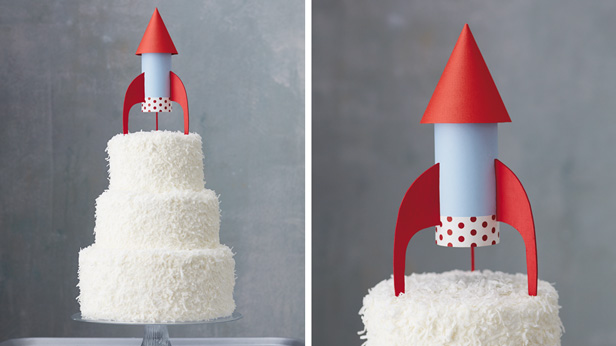 Space Rocket Cake Topper