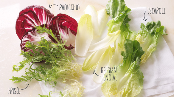 A guide to winter greens: Frisée, Radicchio, Belgian Endive and Escarole