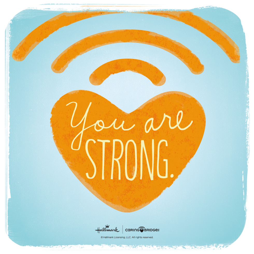 CarePosts: Shareable Words of Encouragement—You are strong. @hallmarkstores @hallmarkstoresIdeas