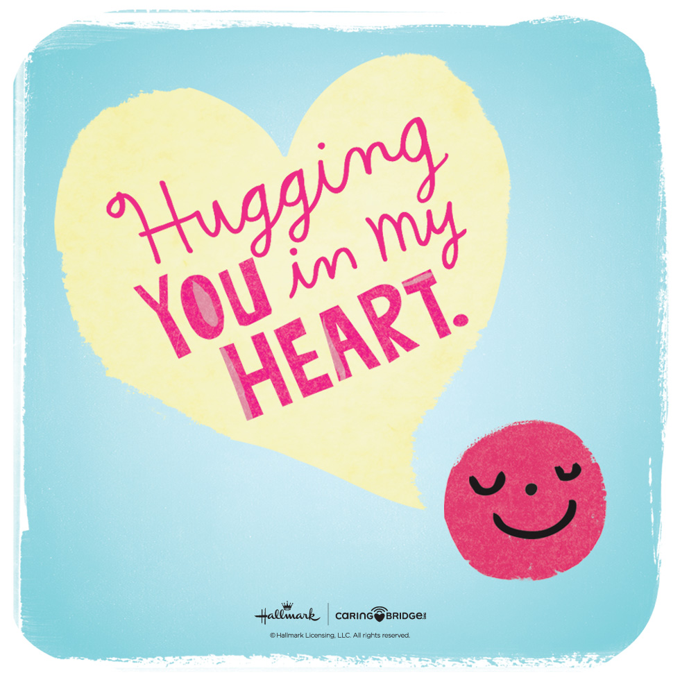 CarePosts: Shareable Words of Encouragement—Hugging you in my heart. #MyHallmark #MyHallmarkIdeas