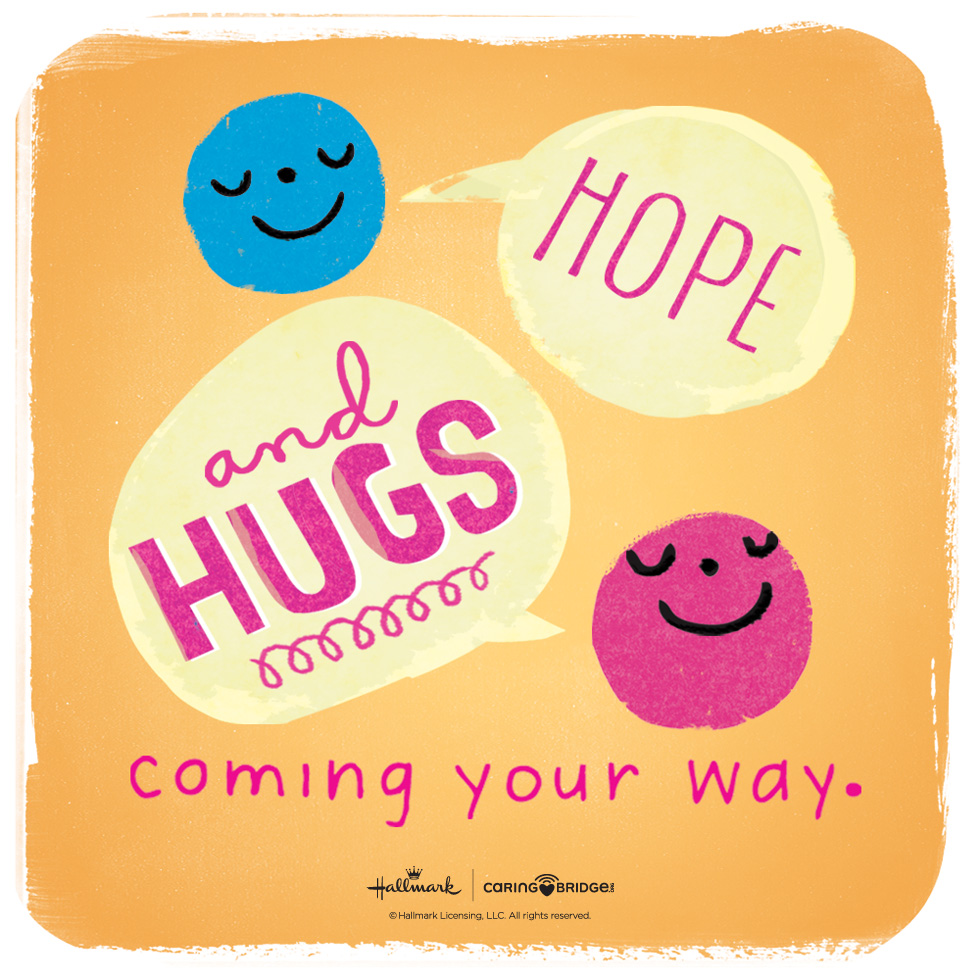 CarePosts: Shareable Words of Encouragement—Hope and hugs coming your way. #MyHallmark #MyHallmarkIdeas