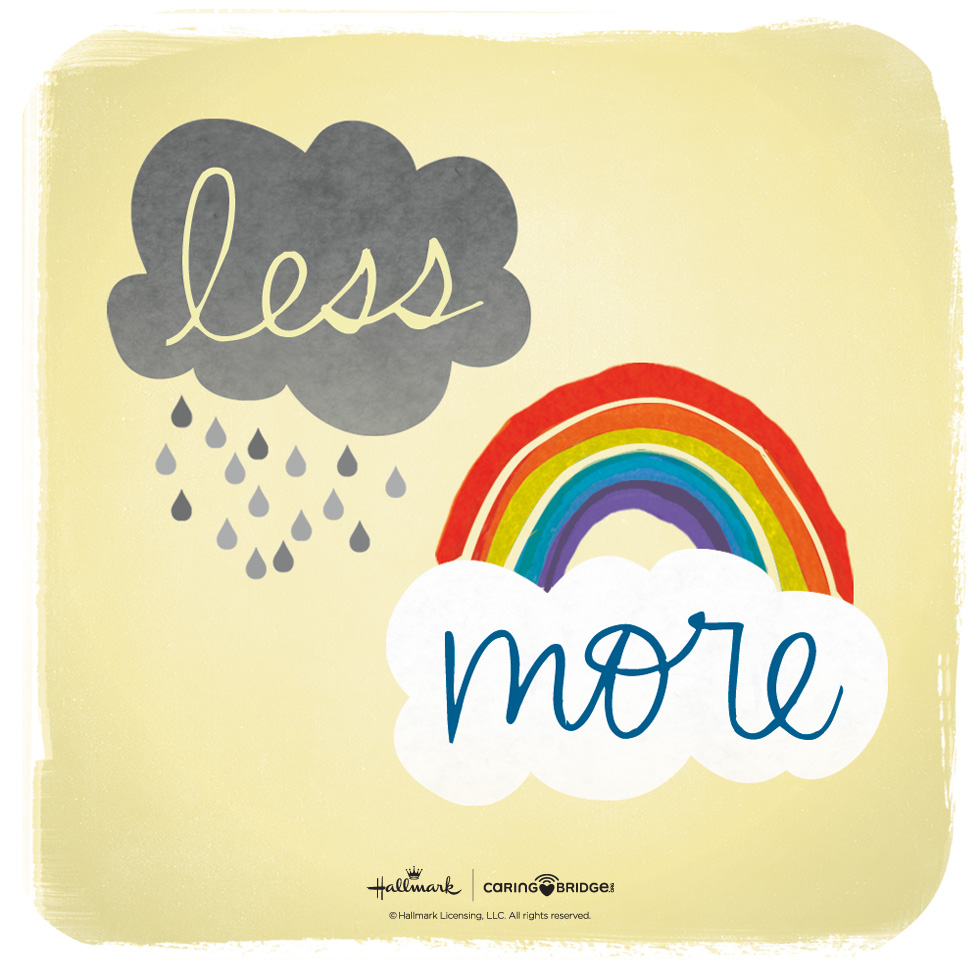 CarePosts: Shareable Words of Encouragement—Less rain. More rainbows. #MyHallmark #MyHallmarkIdeas