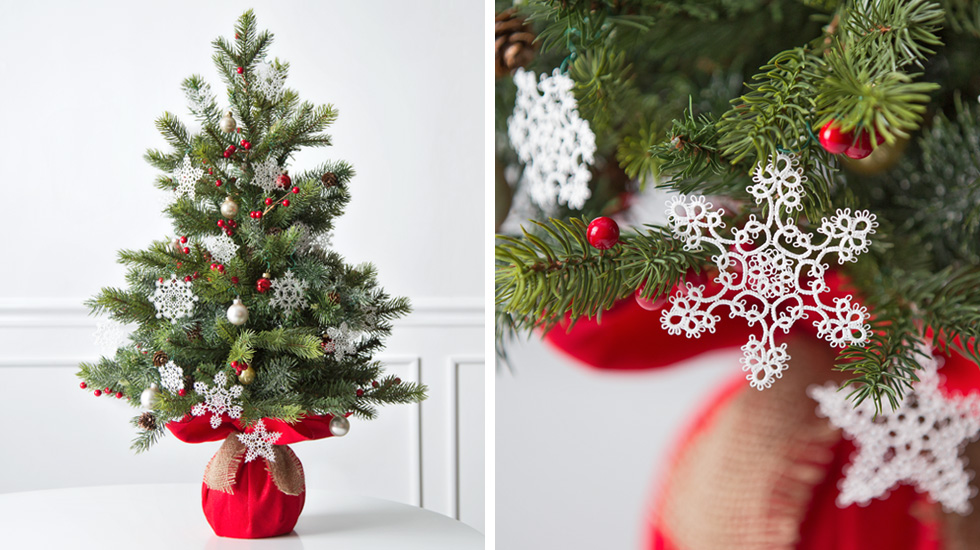 christmas tree decorating ideas and themes snowflake frivolit