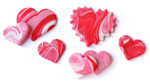 Valentine's Day Party Ideas for Kids: Marbled Hearts Craft
