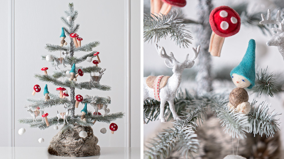 christmas tree decorating ideas and themes woodland scene