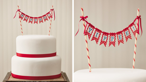 DIY Birthday Cake Toppers: Word Banner