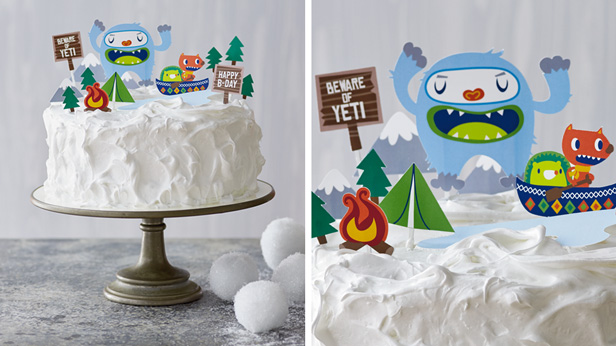 DIY Birthday Cake Toppers Yodeling Yeti