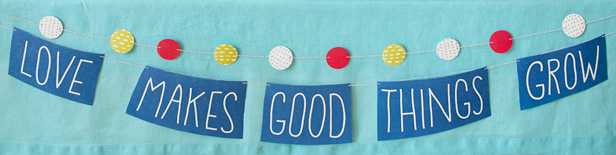 Love Makes Good Things Grow Baby Shower Theme & DIY Decorations: Banner & Bunting #Hallmark #HallmarkIdeas