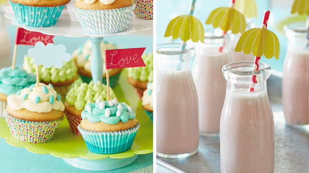 Love Makes Good Things Grow Baby Shower Theme & DIY Decorations: Party Picks & Straw Toppers #Hallmark #HallmarkIdeas