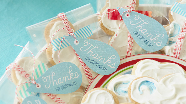 Love Makes Good Things Grow Baby Shower Theme & DIY Decorations: Raindrop Favor Tags #Hallmark #HallmarkIdeas