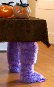DIY Halloween Decorations: Monster Table Legs #Hallmark #HallmarkIdeas