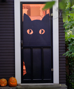 dress up your storm door with this giant cutout and the neighbors will be in awe not knowing how easy it was to make so shhhjust let them think you - Hallmark Halloween Decorations