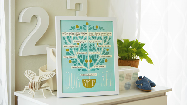 Free nursery printables: family tree