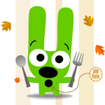 hoops&yoyo free Thanksgiving games and activities: Pin the Pie Game #Hallmark #HallmarkIdeas