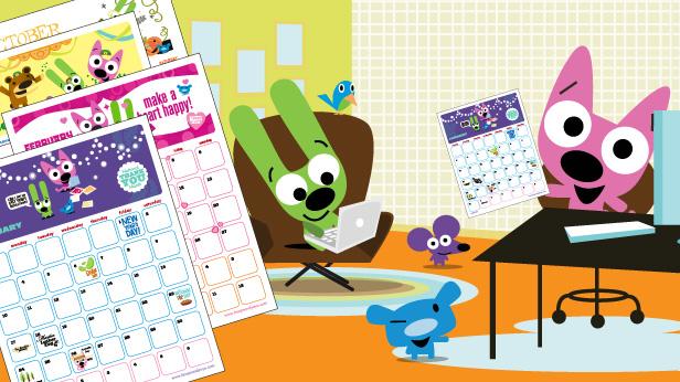 hoops&yoyo™ free printable calendar