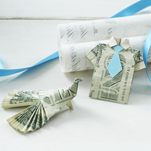 Creative ways to give cash: origami