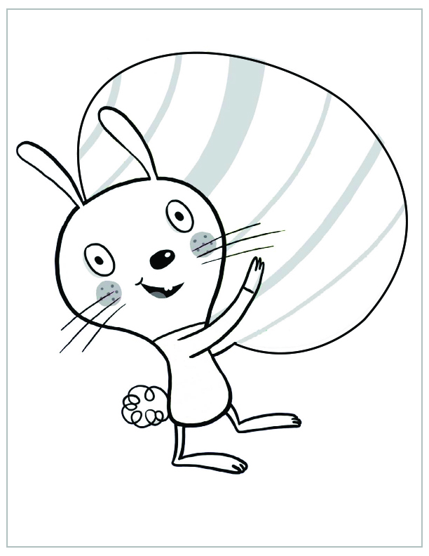 Free Printable Easter Coloring Pages Big Egg