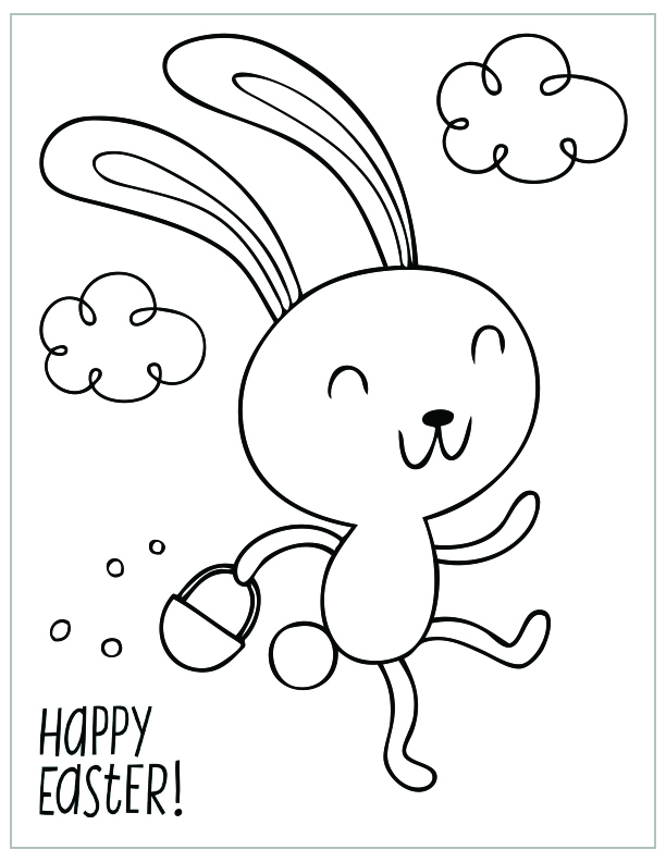 printable easter coloring pages bies