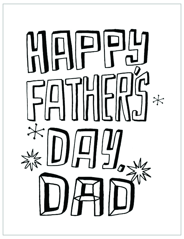 Free Printable Fathers Day Coloring Page Happy
