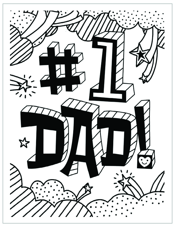 Free printable fathers day coloring page number 1 dad