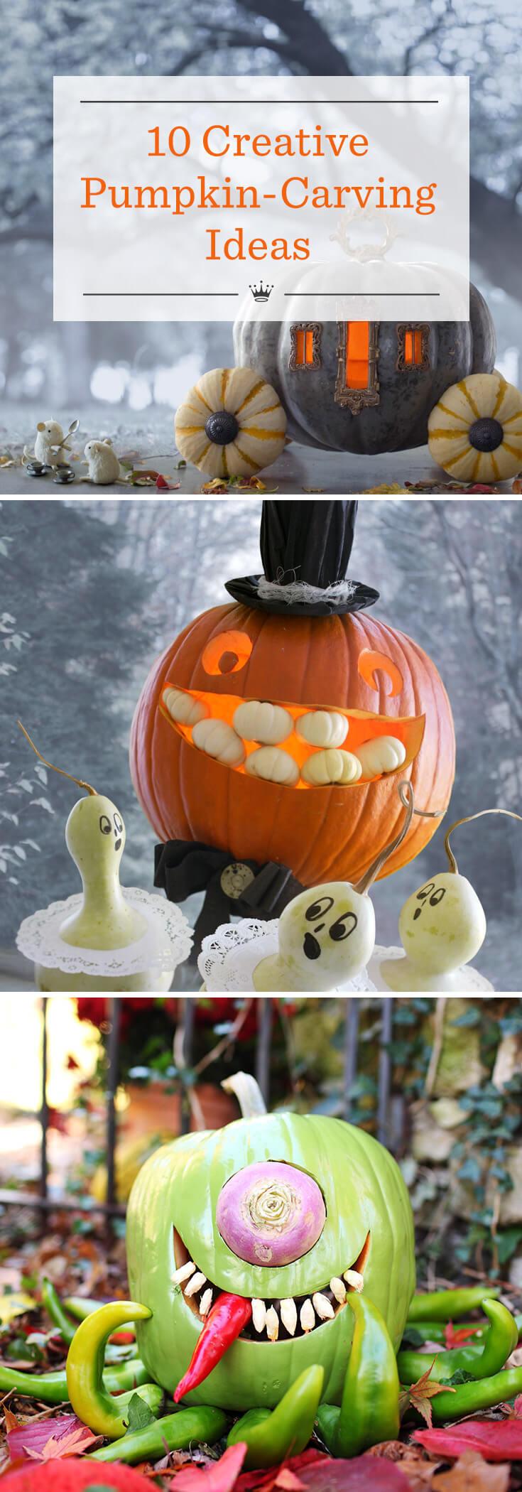 10 creative pumpkin carving ideas | hallmark ideas & inspiration