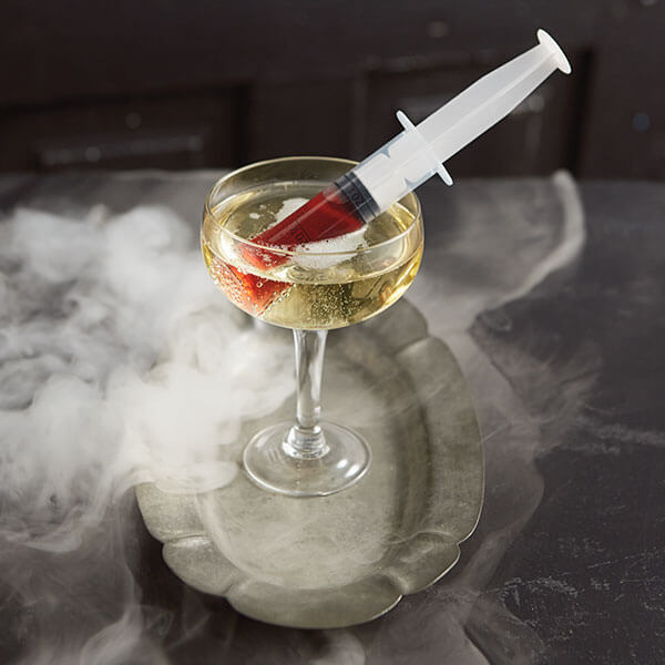 Creepy Halloween Cocktails & Garnish Ideas: Blood Draw