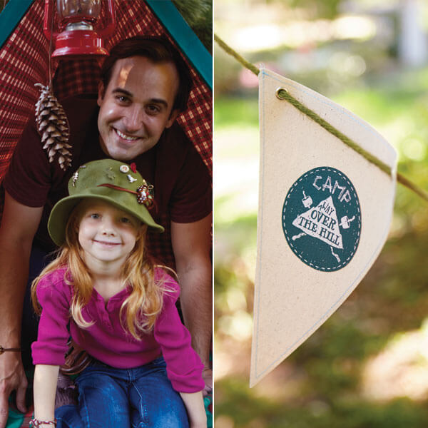 Camping Birthday Party Ideas: Tent and Flag Decoration Ideas