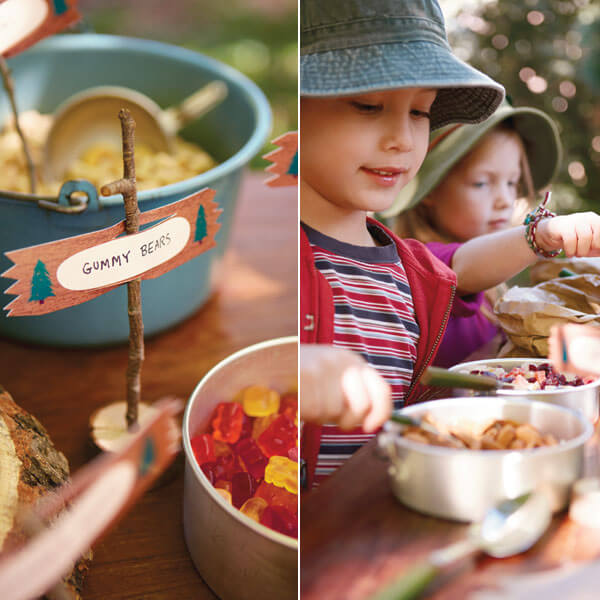 Camping Birthday Party Ideas: Blank Label Free Printables