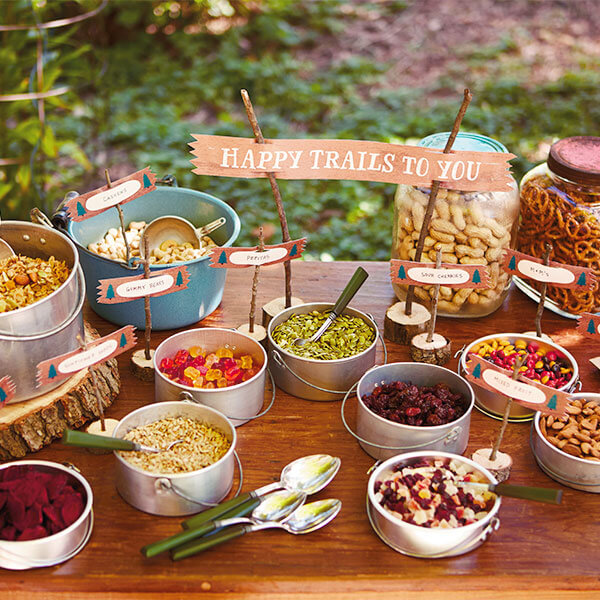 Camping Birthday Party Ideas: Trail Mix Recipe and Free Printables