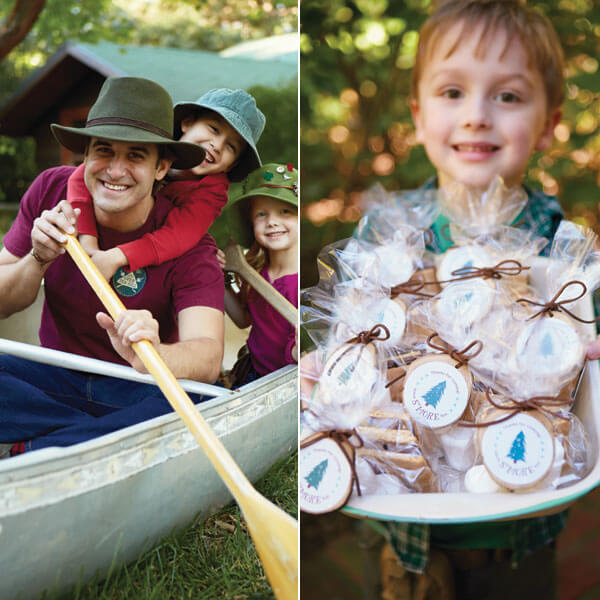 Camping Birthday Party Ideas: Decorations and S'more Party Favors