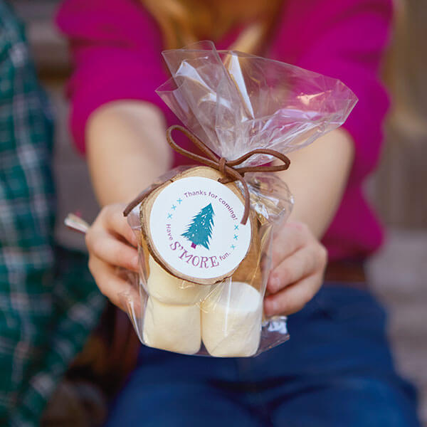Camping Birthday Party Ideas: S'mores Party Favors