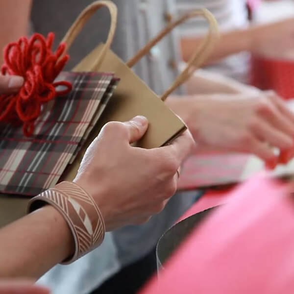 Christmas Party Ideas: Host a Wrap & Yap Party