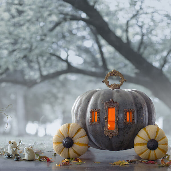Creative Pumpkin-Carving Ideas: Cinderella's Pumpkin Carriage