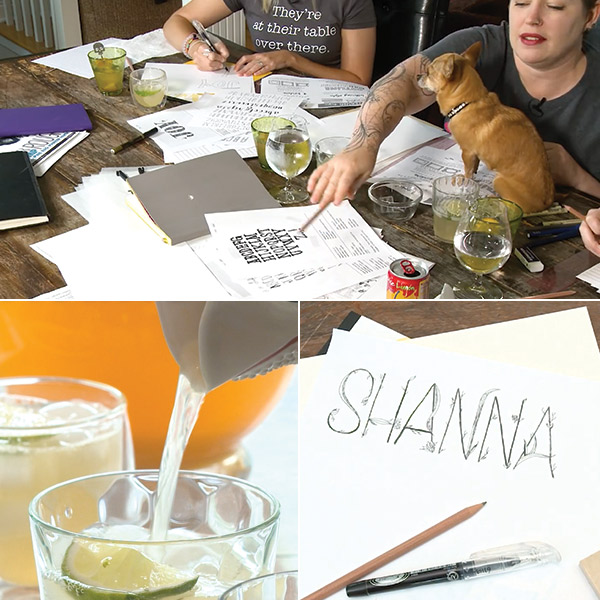 Cocktails & creativity: hand lettering