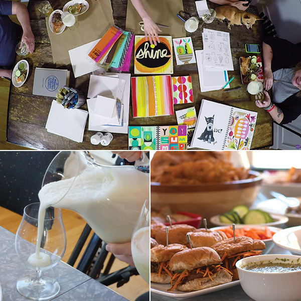 Cocktails & creativity: collage party ideas