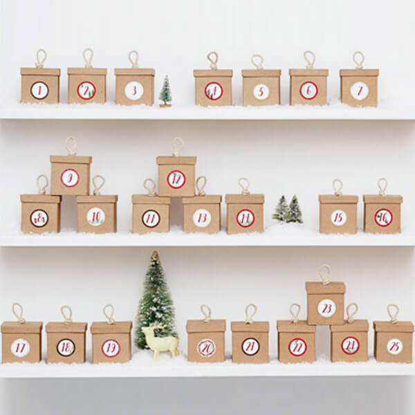 stacked box diy advent calendar