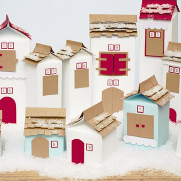 christmas village diy advent calendar